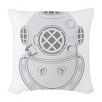 Second Class Diver Woven Throw Pillow
