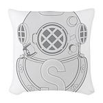 Salvage Diver Woven Throw Pillow