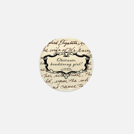 Obstinate Elizabeth Bennet Mini Button