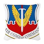 Air Combat Command Woven Throw Pillow