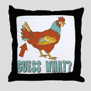 Chicken Butt! Throw Pillow