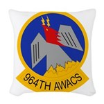 964th AWACS Woven Throw Pillow
