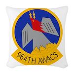 964th AWACS Woven Throw Pillow