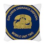 EOD Mobile Unit 2 Woven Throw Pillow