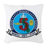 EOD Mobile Unit 5 Woven Throw Pillow