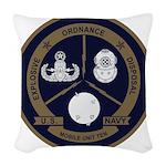 EOD Mobile Unit 10 Woven Throw Pillow