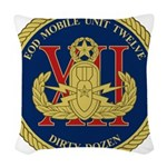 EOD Mobile Unit 12 Woven Throw Pillow