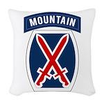 10th Mountain Woven Throw Pillow