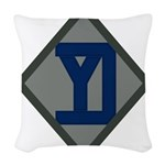 26th Infantry Yankee Div Woven Throw Pillow