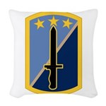 170th Infantry BCT Woven Throw Pillow