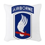 173rd Airborne wings Woven Throw Pillow