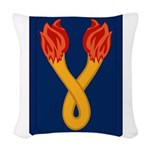 196th Light Infantry Bde Woven Throw Pillow