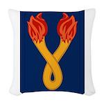 196th Light Infantry Bde Woven Throw Pillow