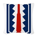 197th Infantry Woven Throw Pillow