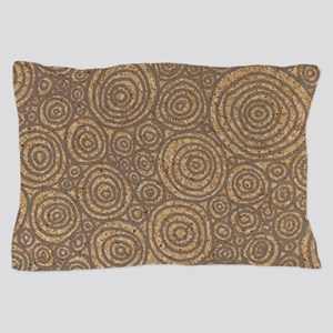 Circles Pillow Case in Stone
