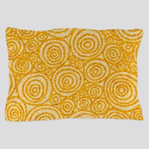Circles Pillow Case in Straw