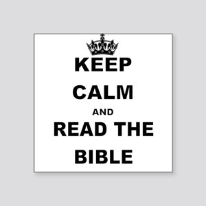 KEEP CALM AND READ THE BIBLE Sticker