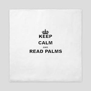 KEEP CALM AND READ PALMS Queen Duvet