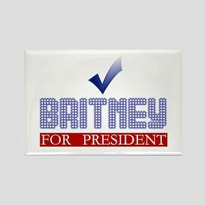 Britney for Prez Rectangle Magnet