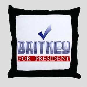 Britney for Prez Throw Pillow