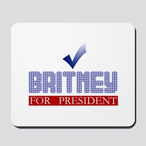 Britney for Prez Mousepad