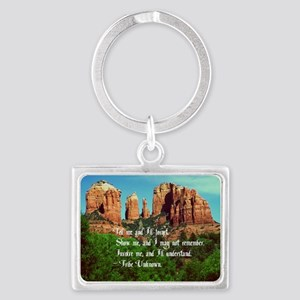 Indian Proverb Landscape Keychain