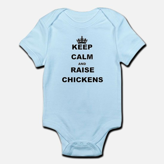 KEEP CALM AND RAISE CHICKENS Body Suit