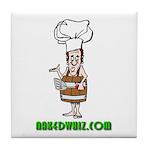 Authentic Naked Whiz Logo Tile Coaster