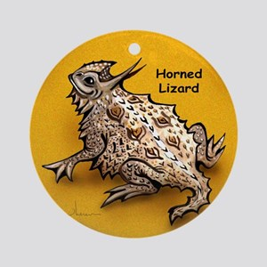 Horned Lizard Horny Toad Ornament (Round)