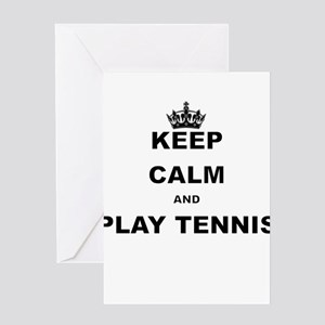 Keep calm and play tennis greeting cards cafepress keep calm and play tennis greeting cards m4hsunfo Choice Image