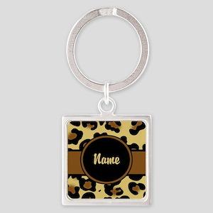 Leopard Print Personalized Keychains
