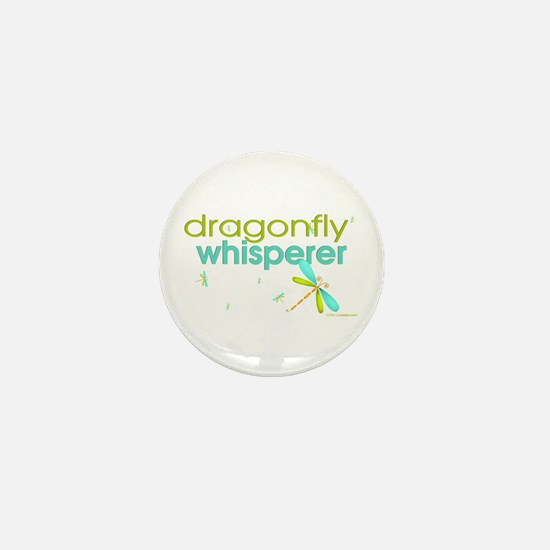 dragonfly whisperer Mini Button