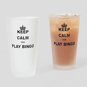 KEEP CALM AND PLAY BINGO Drinking Glass