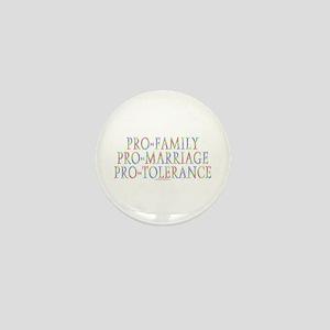 Pro-family, pro-marriage Mini Button