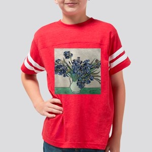 Van Gogh Irises Youth Football Shirt