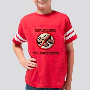 2-ALLERGICTOPEANUT Youth Football Shirt