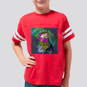 pet de kat button Youth Football Shirt