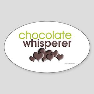 Chocolate Whisperer Oval Sticker