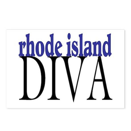 Rhode Island Diva Postcards (Package of 8)