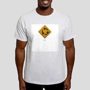 Arrows Circle Roadsign Ash Grey T-Shirt