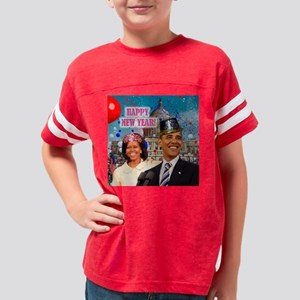 Obama s NEW YEAR WH 16x16 Youth Football Shirt
