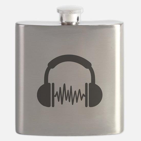 Headphones Frequency DJ Flask