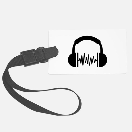 Headphones Frequency DJ Luggage Tag