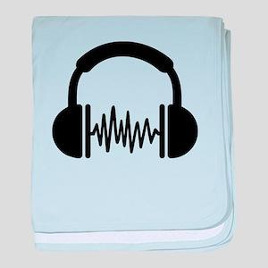 Headphones Frequency DJ baby blanket