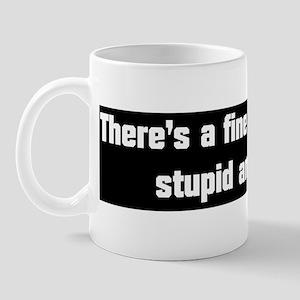 There's a fine line... Mug