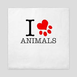 I Love Animals Queen Duvet