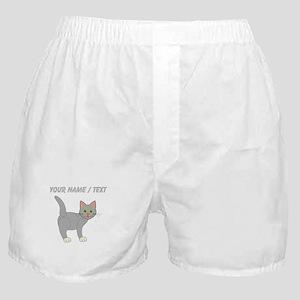 Custom Grey Cat Boxer Shorts