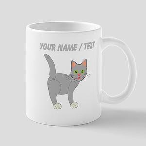 Custom Grey Cat Mugs
