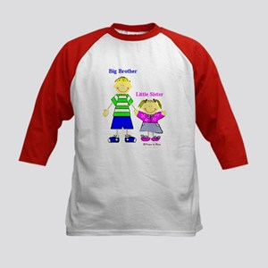 Big Brother Little Sister Kids Baseball Jersey