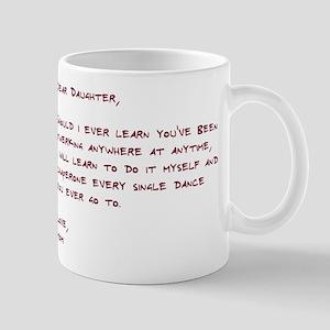 Dear Daughter Twerk Mug